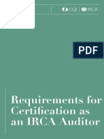 IRCA 1000 Requirements for Certification as an IRCA Auditor