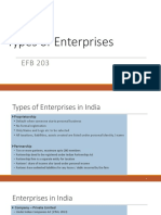 EFB203 Types of Organizations in India
