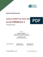 Informe Merit de Valor Mediatico en La Formula 1