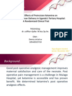 Analgesic Effects of Preincision Ketamine On