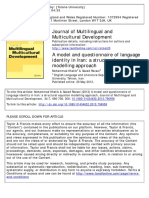A Model and Questionnaire of Language Identity in Iran. a Structural Equation Modelling Approach