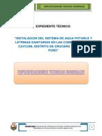ESPECIFIACIONES TECNICAS GENERALES