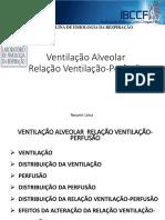 Ventilação Perfusão Relação Ventilação-Perfusão