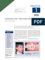 Part 1 - Who Needs Orthodontics