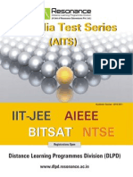 All India Test Series leaflet