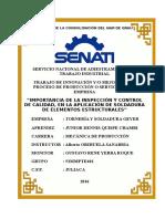 IMPORTANCIA DE INSPECCIÓN Y CONTROL DE CALIDAD, EN LA APLICACIÓN DE SOLDADURA DE ELEMENTOS ESTRUCTURALES.docx