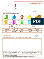 Worksheets Clothes Answers