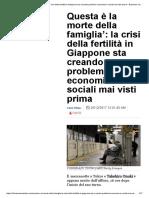 'Questa è La Morte Della Famiglia'_ La Crisi Della Fertilità in Giappone Sta Creando Problemi Economici e Sociali Mai Visti Prima – Business Insider Italia