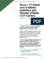 Ecco i 17 Paesi Con Il Debito Pubblico Più Elevato (l'Italia c'È_ Certo!) – Business Insider Italia