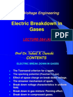 LECTURE-3 & 4 (a)Mechanism of Spark BD in Gases