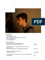 Tomás Cabado - CV Completo 2018