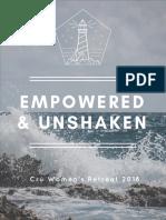 Empowered & Unshaken Schedule