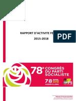 Rapport d'Activité 2015-2018 - Fédération PS Seine Saint Denis