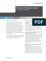 Forrester Trends 2016 the Future of Customer Service