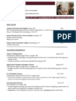 Mallory Scahill Science Teaching Resume
