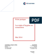 Fiche Regles Dhygiene en Restauration