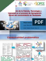VINCULACIÓN CIENCIA, TECNOLOGÍA Y SOCIEDAD CON EL PROCESO DE APROPIACIÓN SOCIAL DEL CONOCIMIENTO