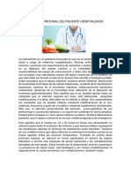 Apoyo Nutricional Del Paciente Hospitalizado