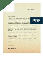 HotOE - Handout #11 - Wellington's Letter