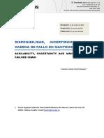 Disponibilidad, Incertidumbre y Cadena de Fallo en Mantenimient