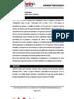 INFORME TOXICOLÓGICO - ÁCIDO MURIÁTICO
