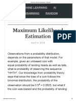 Maximum Likelihood Estimation – Stokastik