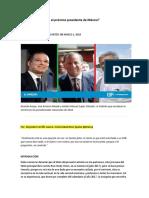 Análisis Quién Será El Próximo Presidente de México