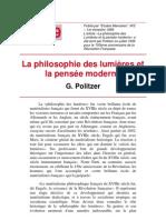 Georges Politzer - La philosophie des lumières et la pensée moderne (1939)