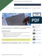 Calendário Escolar e de Exames – Ano Letivo 2017-2018 _ Portal Dos Sites