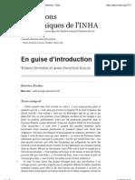 Cannibalismes disciplinaires - En guise d'introduction - Thierry Dufrêne et Anne-Christine Taylor - INHA