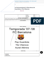 90 Sesiones Entrenamiento Fc Barcelona de Guardiola y Tito Vilanova