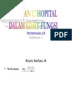 Kalkulus 08 Limit L Hospital