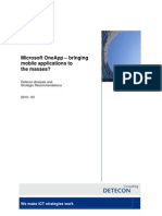 Detecon Opinion Paper Microsoft OneApp - bringing mobile applications to the masses? Analysis and Strategic Recommendations