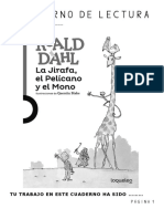La Jirafa El Pelícano y El Mono Cuaderno Lectura