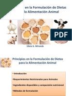 Principios en La Formulación de Dietas