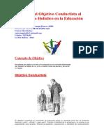 Desde el Objetivo Conductista al Objetivo Holístico en la Educación.docx