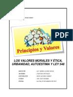 Los Valores Morales y Ética,