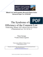 The Syndrome of the Efficiency of the Common Law