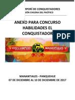 Anexo Concurso Habilidades Del Conquistador 2017