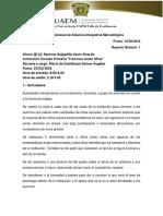 Reporte Semanal de Estancia Integrativa Metodológica, Sesión 01
