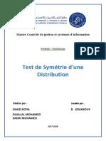 Test de Symétrie Dune Distribution (1)