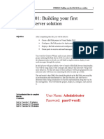 BTSHOL01 Building Your First BizTalk Solution