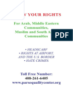 Know Your Rights for Arab Middle Eastern Communities Muslim and South Asian Communities -- English