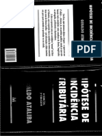 Hipótese de Incidência Tributária - Geraldo Ataliba (Pags 21 a 47)