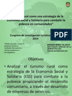 Turismo Rural como una estrategia de la Economía Social y Solidaria para combatir la pobreza en comunidades