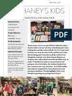 Mr. Haney's Week 26 Newsletter