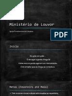 Ministério de Louvor- procedimento de ensaio