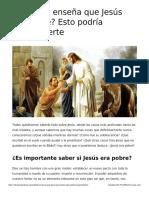 La Biblia Ensena Que Jesus Era Pobre