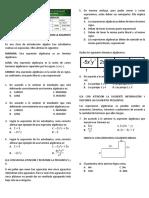 Evaluación de Álgebra.