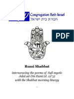 Celebrating Shabbat With Rumi Published by Congregation Beth Israel